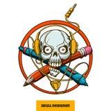 Skull Designer Stock Image
