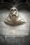 Skull detail in stone on cathedral exterior Royalty Free Stock Photos