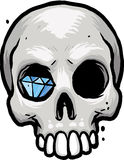 Skull with Diamond Stock Photography