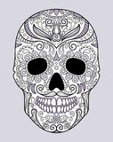 Skull in different monograms original design Royalty Free Stock Photos