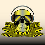 Skull Disco Royalty Free Stock Photos