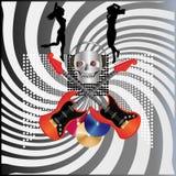 Skull Disco Royalty Free Stock Photo