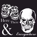Skull, Dog Monochrome graphic design for Shirt stock photos