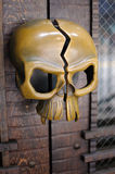 Skull Door handle. A brass skull door handle Royalty Free Stock Photo