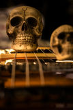 Skull and electric guitar Royalty Free Stock Photo
