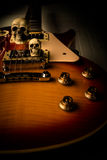 Skull and electric guitar Royalty Free Stock Images