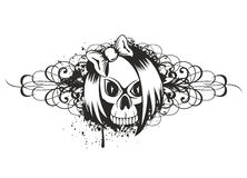 Skull emo with pattern Stock Image