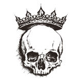 Skull. engraving style. vector illustration. Royalty Free Stock Image