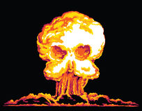 Skull Explosion Royalty Free Stock Photos
