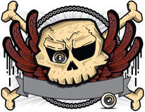 Skull with eye and wings Stock Photo