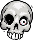 Skull with eyeball. Grey skull with eyeball in eye socket Royalty Free Stock Photography