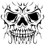 Skull Face Tattoo. Vector illustration of skull face Royalty Free Stock Photos