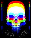 Skull Fashion Tee Graphic Design. Fashion style royalty free illustration