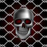 Skull fence Royalty Free Stock Photo