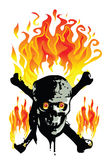Skull Fire Stock Photography