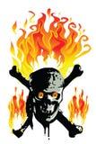 Skull Fire. Illustration Skull Fire eyes bad royalty free illustration