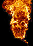 Skull of fire. Of fire formed skull dead, as a symbol of the dangers.  on a black background Stock Image