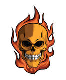 Skull Fire Royalty Free Stock Images