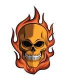 Skull Fire. Eps 10  illustration Design Royalty Free Stock Images
