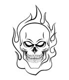 Skull Fire Royalty Free Stock Photo