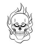 Skull Fire Royalty Free Stock Photo