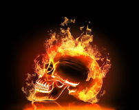 Skull with fire. H Stock Photo
