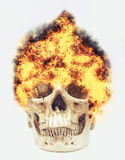 Skull on fire Royalty Free Stock Images