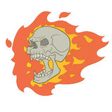 Skull with fire Royalty Free Stock Photos