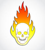 Skull on fire. Illustration of scull on fire flames Royalty Free Stock Photo