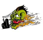 Skull fire Stock Image