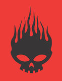 Skull on Fire Vector Design Clipart Stock Photo