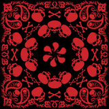 Skull and flame bandana Royalty Free Stock Photo