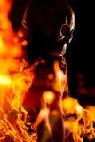 Skull at flame Royalty Free Stock Photo