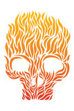 Skull of Flame Stock Images