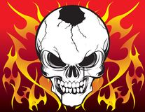 Skull and Flames Royalty Free Stock Photos