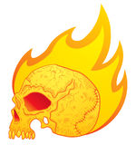 Skull in flames Stock Photos