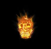 Skull flames Fire effect Stock Photography