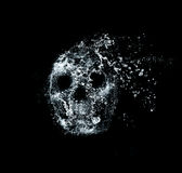 Skull flames Fire effect Royalty Free Stock Photo
