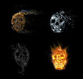 Skull flames Fire effect Stock Photo