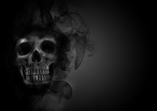 Skull flames Fire effect Stock Image