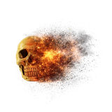 Skull flames Fire effect Royalty Free Stock Image