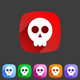 Skull flat icon Royalty Free Stock Photo