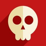 Skull flat icon Stock Image