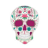 Skull with floral ornament Royalty Free Stock Image