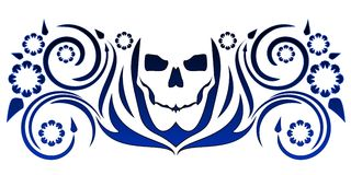 Skull with flourishes Royalty Free Stock Images