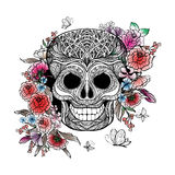 Skull And Flowers Royalty Free Stock Photo