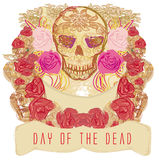 Skull and Flowers Day of The Dead Stock Photos