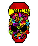 Skull of flowers for Day of the Dead. Skeleton head for national. Holiday in Mexico. Floral corpse Stock Photos