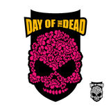 Skull of flowers for Day of the Dead. Skeleton head for national. Holiday in Mexico. Floral corpse Royalty Free Stock Images