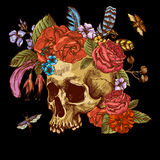 Skull and Flowers Day of The Dead Stock Images